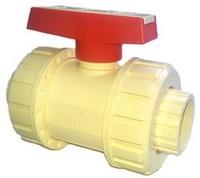 Кран шаровой разборный ХПВХ для холодного и горячего водоснабжения, d 40 мм, PN 16