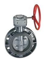 Дисковый затвор ПВХ «баттерфляй» с червячной передачей, PN 10, d 160 мм, DN 150