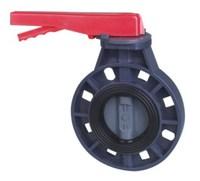 Дисковый затвор ПВХ «баттерфляй» общего применения с ручным приводом, PN 16, d 110 мм, DN 100